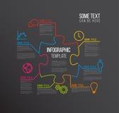 Calibre de rapport d'Infographic de puzzle de vecteur Images libres de droits