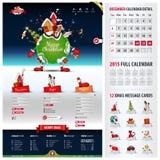 Calibre de site Web de cinq composants pour Noël illustration libre de droits