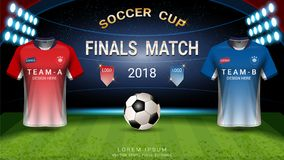 2018 calibre de tasse du football de championnat du monde, concept de match-gain final illustration de vecteur