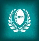 Calibre de Team Club Logo Sport Design de rugby illustration de vecteur