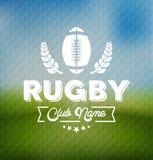 Calibre de Team Club Logo Sport Design de rugby illustration stock