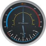 Calibre de temperatura/pressão de petróleo Fotos de Stock Royalty Free