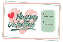 Calibre de Valentine Days Greeting Card Banner image stock