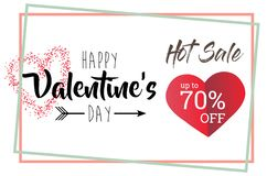 Calibre de Valentine Days Greeting Card Banner images stock
