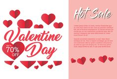 Calibre de Valentine Days Greeting Card Banner photo libre de droits