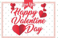 Calibre de Valentine Days Greeting Card Banner photo stock