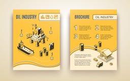 Calibre de vecteur de brochure de société d'industrie pétrolière  illustration stock