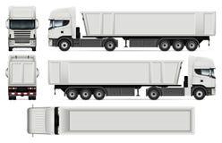 Calibre de vecteur de camion à benne basculante Photos stock