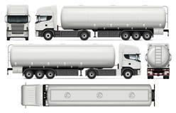 Calibre de vecteur de camion-citerne aspirateur Image libre de droits