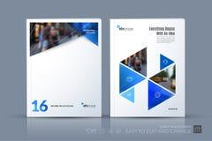 Calibre de vecteur d'affaires La disposition de brochure, couvrent la conception moderne a illustration de vecteur