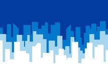 Calibre de vecteur d'affiche avec l'horizon bleu de ville Image stock