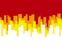 Calibre de vecteur d'affiche avec l'horizon rouge de ville illustration de vecteur