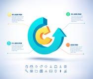 Calibre de vecteur dans le style moderne Pour infographic et la présentation Photos libres de droits