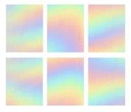 Calibre de vecteur de bannière de vente Modèle géométrique olographe Offre spéciale, néon olographe illustration de vecteur