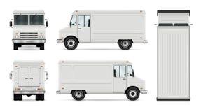 Calibre de vecteur de camion de nourriture Images libres de droits