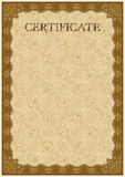 Calibre de vecteur de certificat détaillé Photographie stock