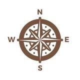Calibre de vecteur de conception de vintage de logo de boussole de navigation Logotype rose de vent Image stock