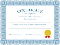 Calibre de vecteur de diplôme de certificat Images libres de droits