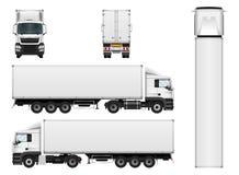 Calibre de vecteur de remorque de camion de cargaison Images stock