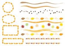 Calibre de vecteur des feuilles d'automne illustration stock