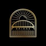Calibre de vecteur de logo de pont illustration stock