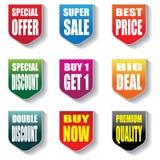 Calibre de vente au rabais de promotion de bannière de label de collection illustration de vecteur