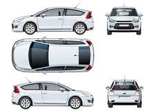 Calibre de voiture de vecteur d'isolement sur le blanc illustration stock