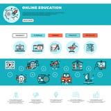 Calibre de web design d'apprentissage en ligne, d'éducation ou de cours de formation Photos stock