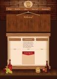 Calibre de Web pour le café de vintage illustration libre de droits