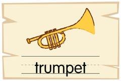 Calibre de Wordcard pour la trompette de mot illustration de vecteur