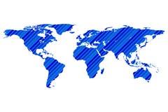 Calibre de Worldmap avec des rayures Photos libres de droits