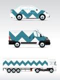 Calibre des véhicules pour faire de la publicité, stigmatiser ou identité d'entreprise Images libres de droits