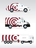 Calibre des véhicules pour faire de la publicité, stigmatiser ou identité d'entreprise Photos libres de droits