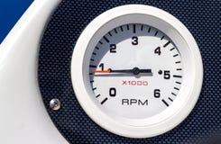 Calibre do barco do RPM foto de stock