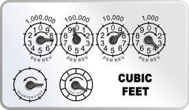 Calibre do medidor de gás natural Ilustração Royalty Free
