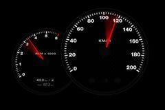 Calibre do tacômetro Fotografia de Stock Royalty Free