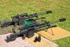 Calibre dos rifles de atirador furtivo 50 BMG Foto de Stock