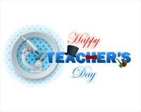 Calibre du jour du professeur heureux avec le texte 3d illustration de vecteur