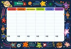 Calibre du programme du ` s d'école ou d'étudiant Illustration de vecteur illustration stock