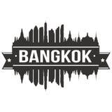 Calibre Editable de silhouette d'Art Design Skyline Flat City de vecteur d'icône de Bangkok Thaïlande Asie Photos libres de droits