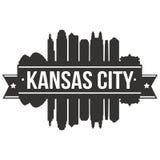 Calibre Editable de silhouette d'Art Design Skyline Flat City de vecteur d'icône de Kansas City Missouri Etats-Unis d'Amérique Image libre de droits