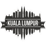 Calibre Editable de silhouette d'Art Design Skyline Flat City de vecteur de Kuala Lumpur Malaysia Asia Icon Photos libres de droits