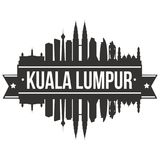 Calibre Editable de silhouette d'Art Design Skyline Flat City de vecteur de Kuala Lumpur Malaysia Asia Icon illustration de vecteur