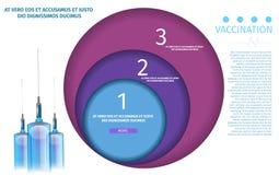 Calibre Editable pour l'appli à trois étages de vaccination illustration libre de droits