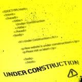 Calibre en construction de conception de site Web Photos libres de droits