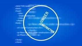Calibre en construction de conception de site Web Images stock