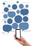 Calibre en ligne de site d'astrologie sur le smartphone avec l'écran vide images stock