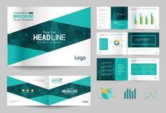 Calibre et mise en page de conception de brochure d'affaires pour le profil d'entreprise, rapport annuel, illustration de vecteur