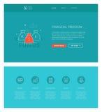 Calibre financier de conception de liberté pour des sites Web et des apps Images stock