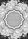 Calibre floral monochrome Image libre de droits
